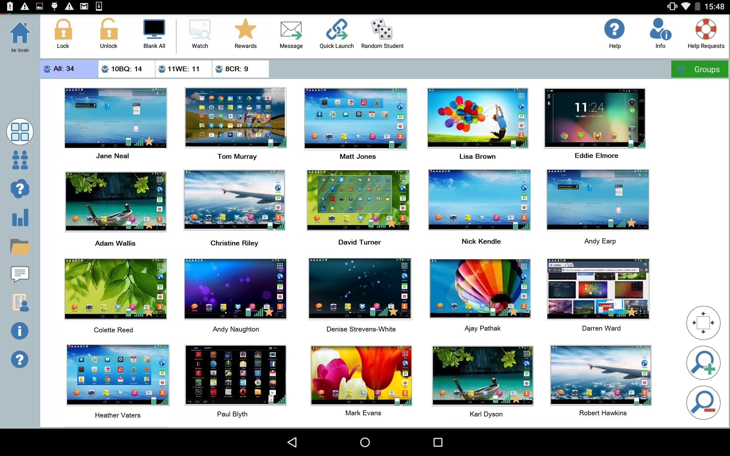 Android Tutor: Monitor student devices from a teacher's Android tablet