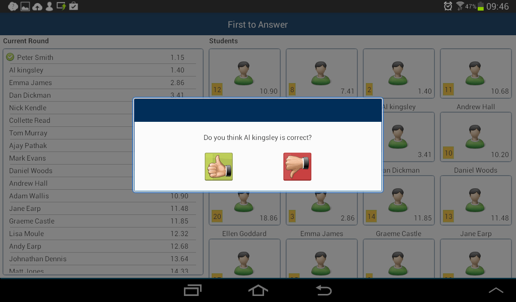 Android Student: Q&A Mode, peer assessment