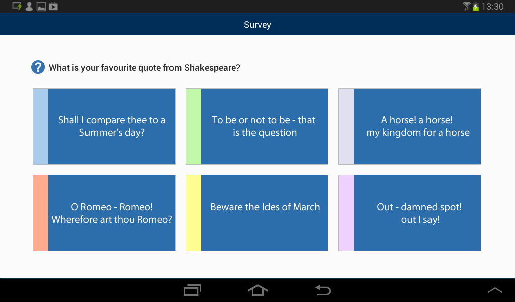 Android Student: Participate in class surveys